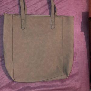Old navy grey felt tote purse